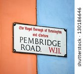 london street sign  pembridge... | Shutterstock . vector #130186646