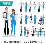 medical and health care vector... | Shutterstock .eps vector #1301898442