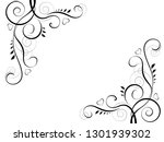 abstract floral black... | Shutterstock . vector #1301939302