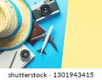 travel accessories objects and... | Shutterstock . vector #1301943415