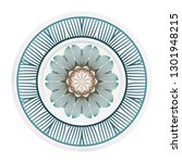decorative round plate with... | Shutterstock .eps vector #1301948215