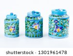 Painted Ceramic Jar With A Lid ...