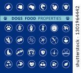 dog's food properties icon set  ... | Shutterstock .eps vector #1301964442
