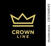 gold crown line black...   Shutterstock .eps vector #1301968045