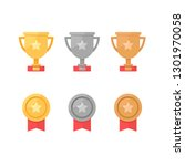 1st  2nd and 3rd places. gold ... | Shutterstock .eps vector #1301970058