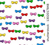 colorful bow seamless pattern... | Shutterstock .eps vector #1302017848