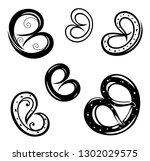 oktoberfest pretzel food bakery ... | Shutterstock .eps vector #1302029575