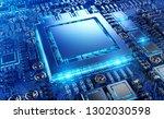 close up view of a modern gpu...   Shutterstock . vector #1302030598