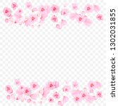 pink petals and flowers of... | Shutterstock .eps vector #1302031855