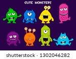 collection of cute cartoon...