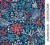 coral reefs seamless pattern.... | Shutterstock .eps vector #1302051208