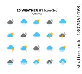 top 20 simple set of weather... | Shutterstock .eps vector #1302061498