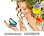 Little Girl With Flower...
