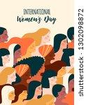 international womens day.... | Shutterstock .eps vector #1302098872