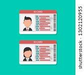id card  flat design style   Shutterstock .eps vector #1302120955
