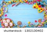 krapfen  berliner or donuts... | Shutterstock . vector #1302130402