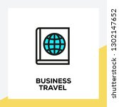 business travel line icon set