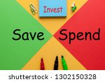 colour sheets red vs. green... | Shutterstock . vector #1302150328