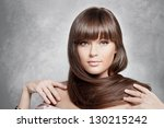 portrait of lovely woman with... | Shutterstock . vector #130215242
