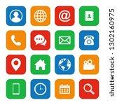 web icon set flat design. set... | Shutterstock .eps vector #1302160975