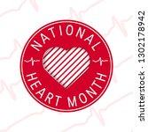 national heart month concept.... | Shutterstock .eps vector #1302178942