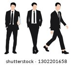 vector of young businessman and ... | Shutterstock .eps vector #1302201658
