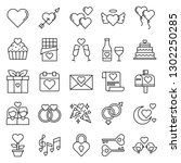 this is a set of valentines... | Shutterstock . vector #1302250285