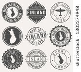 finland travel stamp made in... | Shutterstock .eps vector #1302274948