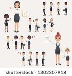 set office workers. business... | Shutterstock .eps vector #1302307918