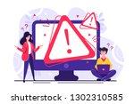 concept operating system error... | Shutterstock .eps vector #1302310585