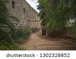 Tarragona Passeig arqueologic (Archaeological Promenade) under Roman era walls