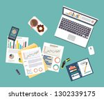 auditing concept vector... | Shutterstock .eps vector #1302339175
