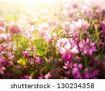 flower background with a lot of ... | Shutterstock . vector #130234358