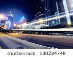 traffic in hong kong at night   Shutterstock . vector #130234748