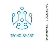 techno smart.electronic... | Shutterstock .eps vector #1302358792