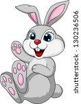 cute rabbit cartoon sitting | Shutterstock . vector #130236506