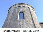 medieval castle exterior design.... | Shutterstock . vector #1302379345