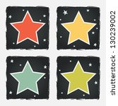 set of different colorful stars ... | Shutterstock .eps vector #130239002
