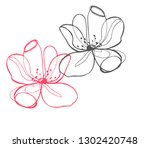 hand drawn illustration of... | Shutterstock .eps vector #1302420748