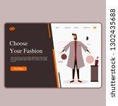 modern landing page template...   Shutterstock .eps vector #1302435688
