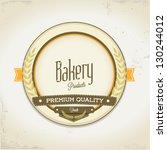 bakery vintage card | Shutterstock .eps vector #130244012