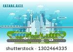 smart city landscape of the... | Shutterstock . vector #1302464335