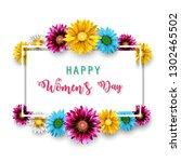women's day  march 8. happy... | Shutterstock . vector #1302465502