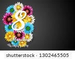 women's day  march 8. happy... | Shutterstock . vector #1302465505
