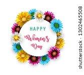 women's day  march 8. happy... | Shutterstock . vector #1302465508