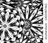 seamless floral background.... | Shutterstock .eps vector #1302487462