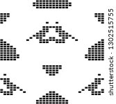 seamless black and white pixel... | Shutterstock . vector #1302515755