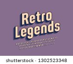 vector stylish label retro... | Shutterstock .eps vector #1302523348