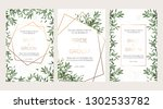 elegant wedding floral... | Shutterstock .eps vector #1302533782