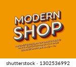 vector stylish sign modern shop ...   Shutterstock .eps vector #1302536992